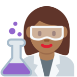 Woman Scientist: Medium-Dark Skin Tone on Twitter Twemoji 11.1