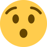 Hushed Face on Twitter Twemoji 11.1