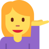 Person Tipping Hand on Twitter Twemoji 11.1