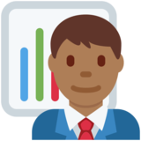 Man Office Worker: Medium-Dark Skin Tone on Twitter Twemoji 11.1