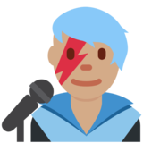 Man Singer: Medium Skin Tone on Twitter Twemoji 11.1