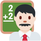 Man Teacher: Light Skin Tone on Twitter Twemoji 11.1