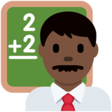 Man Teacher: Dark Skin Tone on Twitter Twemoji 11.1