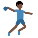 Man Playing Handball: Dark Skin Tone on Twitter Twemoji 11.1
