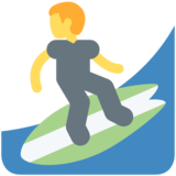 Man Surfing on Twitter Twemoji 11.1