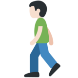 Person Walking: Light Skin Tone on Twitter Twemoji 11.1