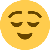 Relieved Face on Twitter Twemoji 11.1