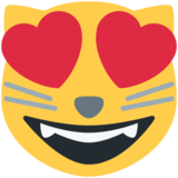 Smiling Cat with Heart-Eyes on Twitter Twemoji 11.1