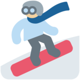 Snowboarder: Medium-Light Skin Tone on Twitter Twemoji 11.1