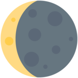 Waning Crescent Moon on Twitter Twemoji 11.1