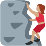 Woman Climbing: Medium Skin Tone on Twitter Twemoji 11.1