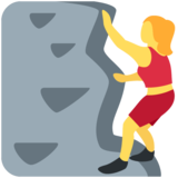 Woman Climbing on Twitter Twemoji 11.1
