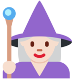 Woman Mage: Light Skin Tone on Twitter Twemoji 11.1