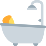 Person Taking Bath on Twitter Twemoji 11.2