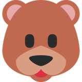 Bear Face on Twitter Twemoji 11.2