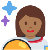 Woman Astronaut: Medium-Dark Skin Tone on Twitter Twemoji 11.2
