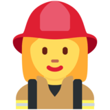 Woman Firefighter on Twitter Twemoji 11.2