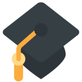 Graduation Cap on Twitter Twemoji 11.2