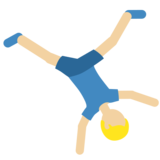 Man Cartwheeling: Medium-Light Skin Tone on Twitter Twemoji 11.2