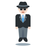 Man in Suit Levitating: Light Skin Tone on Twitter Twemoji 11.2