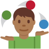 Man Juggling: Medium-Dark Skin Tone on Twitter Twemoji 11.2