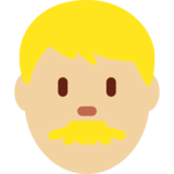 Man: Medium-Light Skin Tone on Twitter Twemoji 11.2