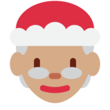 Mrs. Claus: Medium Skin Tone on Twitter Twemoji 11.2