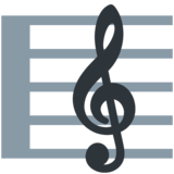 Musical Score on Twitter Twemoji 11.2