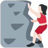 Woman Climbing: Light Skin Tone on Twitter Twemoji 11.2