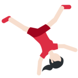 Woman Cartwheeling: Light Skin Tone on Twitter Twemoji 11.2