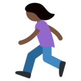 Woman Running: Dark Skin Tone on Twitter Twemoji 11.2