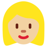 Woman: Medium-Light Skin Tone on Twitter Twemoji 11.2