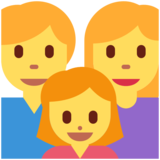 Family: Man, Woman, Girl on Twitter Twemoji 11.3