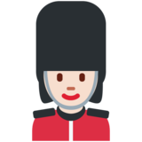Woman Guard: Light Skin Tone on Twitter Twemoji 11.3
