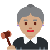 Woman Judge: Medium Skin Tone on Twitter Twemoji 11.3