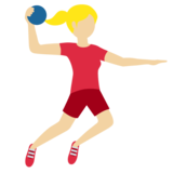 Person Playing Handball: Medium-Light Skin Tone on Twitter Twemoji 11.3