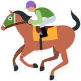 Horse Racing: Medium Skin Tone on Twitter Twemoji 11.3