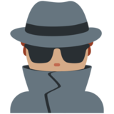 Man Detective: Medium Skin Tone on Twitter Twemoji 11.3