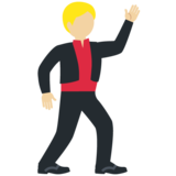 Man Dancing: Medium-Light Skin Tone on Twitter Twemoji 11.3