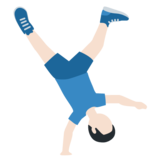 Man Cartwheeling: Light Skin Tone on Twitter Twemoji 11.3