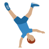 Man Cartwheeling: Medium Skin Tone on Twitter Twemoji 11.3