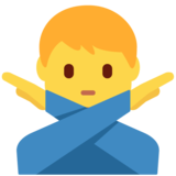Man Gesturing No on Twitter Twemoji 11.3