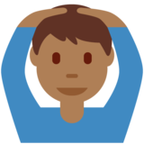 Man Gesturing OK: Medium-Dark Skin Tone on Twitter Twemoji 11.3