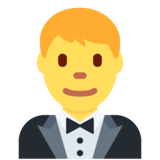 Person in Tuxedo on Twitter Twemoji 11.3