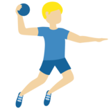 Man Playing Handball: Medium-Light Skin Tone on Twitter Twemoji 11.3