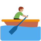 Man Rowing Boat: Medium Skin Tone on Twitter Twemoji 11.3