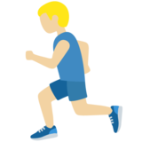 Man Running: Medium-Light Skin Tone on Twitter Twemoji 11.3