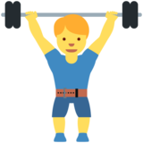 Man Lifting Weights on Twitter Twemoji 11.3