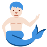 Merman: Light Skin Tone on Twitter Twemoji 11.3