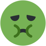 Nauseated Face on Twitter Twemoji 11.3